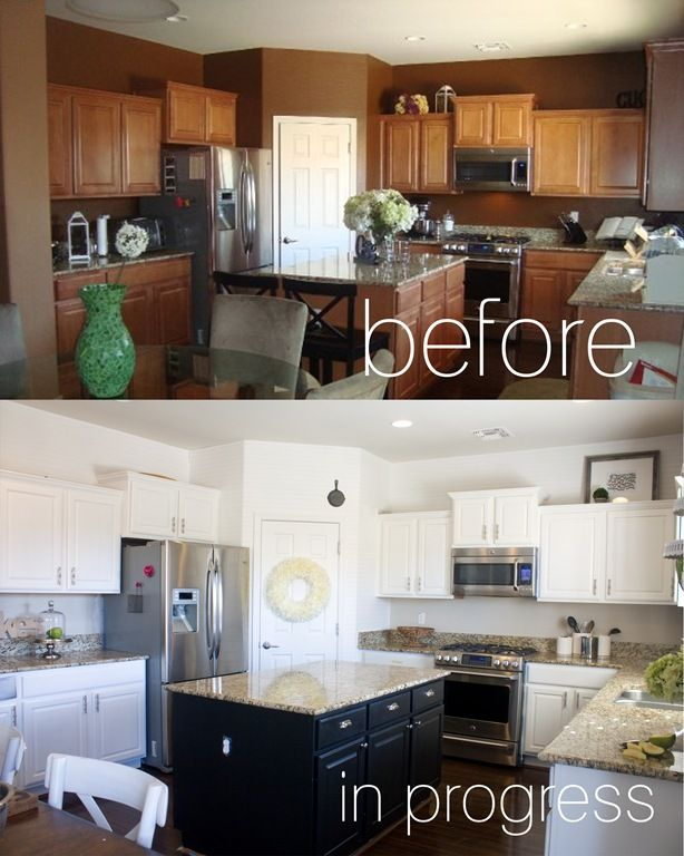 Repainting kitchen cupboards kitchen makeover please for Repainting white kitchen cabinets