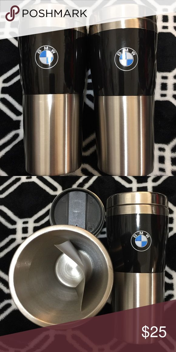 Free keychain w/ 2 BMW Coffee Mug Stainless Steel BMW Mug 14oz Coffee Travel Slide Lock Top Insulated Tumbler Stainless Steel  Brand new, never used. Price is for 2 and FREE BMW KEYCHAIN FOB! **Cheaper than Ebay and Amazon** Insulated tumbler features press-on lid with sliding open/close mechanism for easy drinking. Fits all BMW models. Hand wash only. *From Pet & Smoke Free Home* *Please no trades.  Genuine BMW Lifestyle Product Insulated Tumber Holds 14oz. Press on lid Slide lock top BMW…