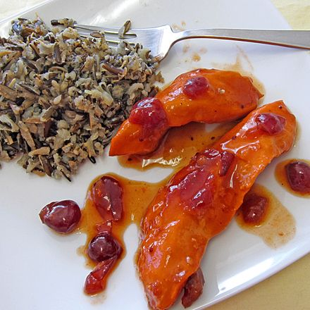 Cranberry Chicken  Wild Rice: We did this for dinner last week and it was incredible. I thought it might be a little too sweet for my hubby, but the onion mix really counter-balances the sweetness nicely. We will certainly be having this one again!