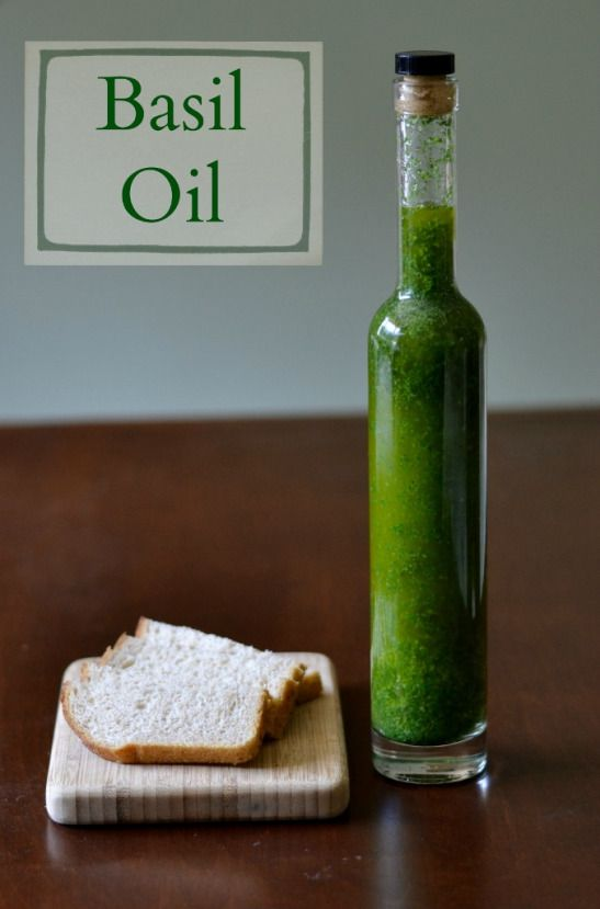 Homemade basil oil is so easy to make! It's a delicious topping for many dishes, and this recipe makes a great holiday gift.