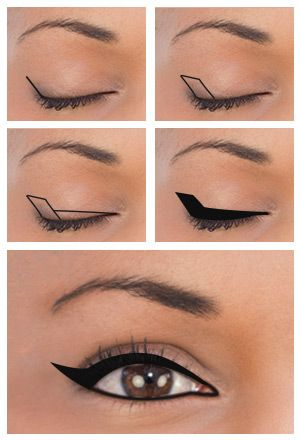 Winged Eyeliner for Deep-set Eyes