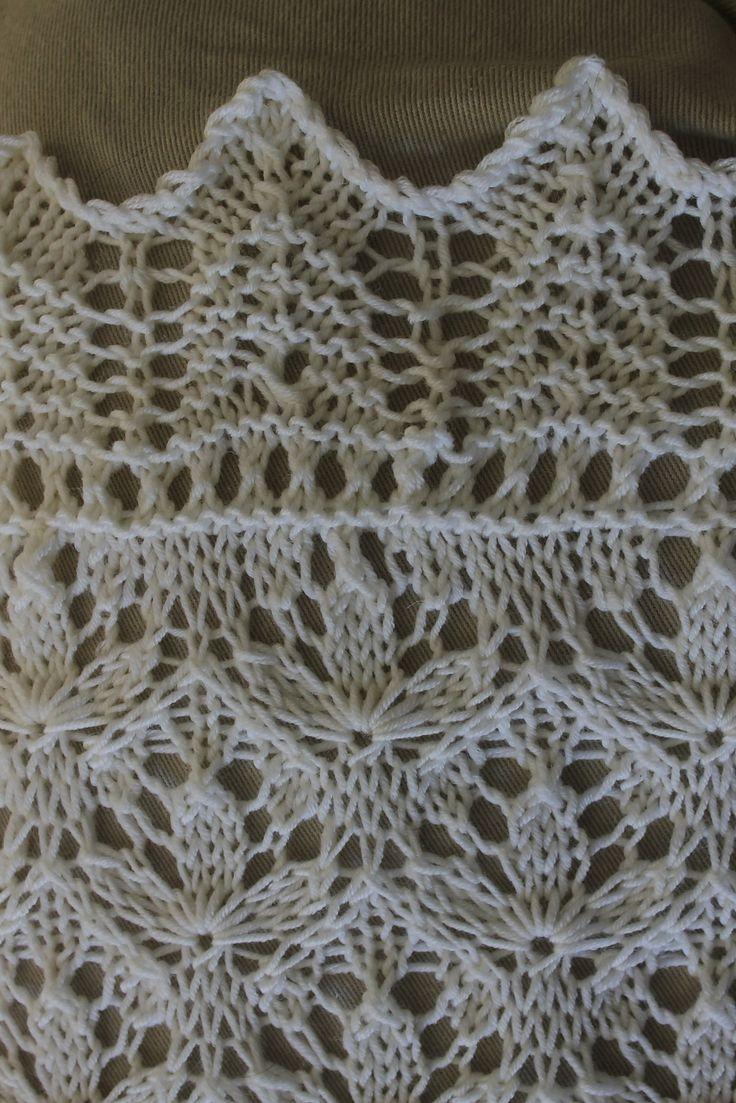 Knitting Pattern For Roots Blanket : Starflower Estonian Lace Baby Blanket pattern by Hazel ...