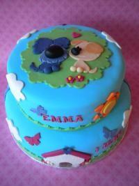 Woezel en pip taart voor de jarige Emma van Zoet! in Burgum Friesland