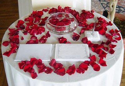 Adornos De Mesa Para Bodas | Decoracion de la mesa de recuerdos en una boda - decorando-interiores ...