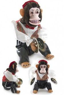 charley chimp cymbal monkey large