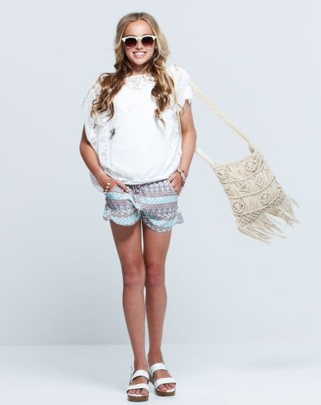 PAVEMENT BRANDS - PEYTON LACE TOP + RYLEIGH SHORT