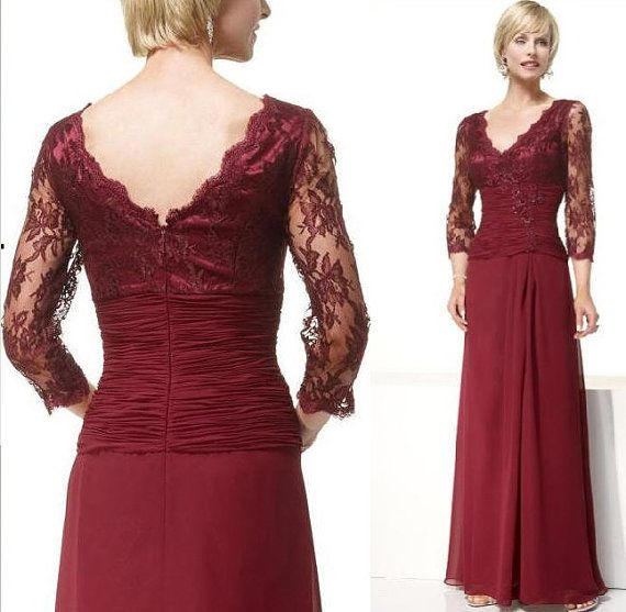 Plus Size Red Formal Dresses For Grooms Mother Fashion Dresses