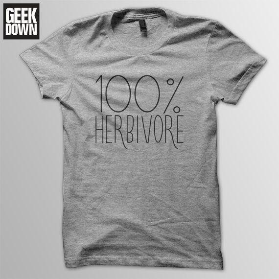 100% Herbivore *Vegan* t-shirt tee // vegan t-shirts / vegan clothing / vegan shirt / vegetarian / animal rights