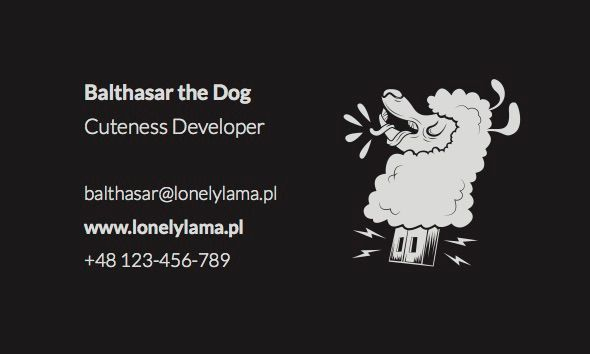 Lonely Lama design - our new business card! We love design and illustration! Check out our website!
