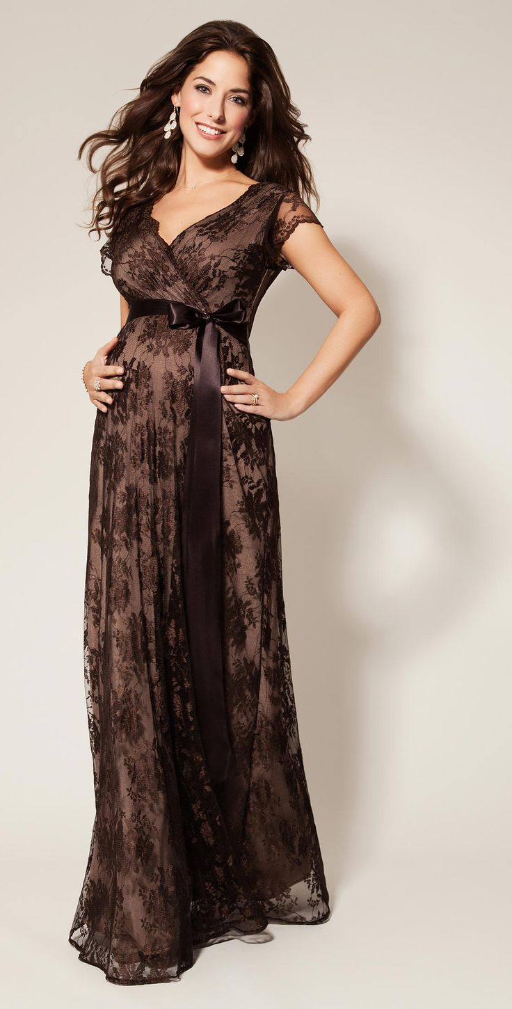 Eden Maternity Gown Long Chocolate - Maternity Wedding Dresses, Evening Wear and Party Clothes by Tiffany Rose
