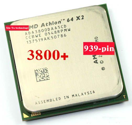 Lifetime warranty Athlon 64 X2 3800+ 2.0GHz 1M Dual Core desktop processors CPU Socket 939 pin 3800 Official version Computer