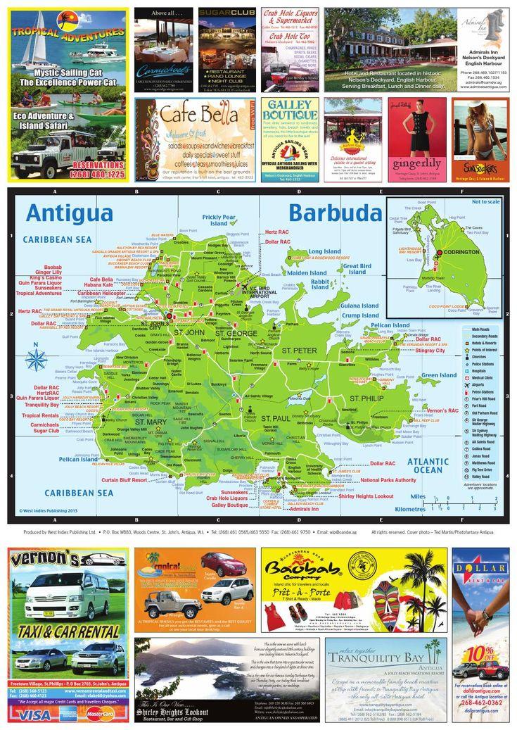 Best Antigua Images On Pinterest Beach Resorts Hotel Reviews - Antigua barbuda map caribbean sea