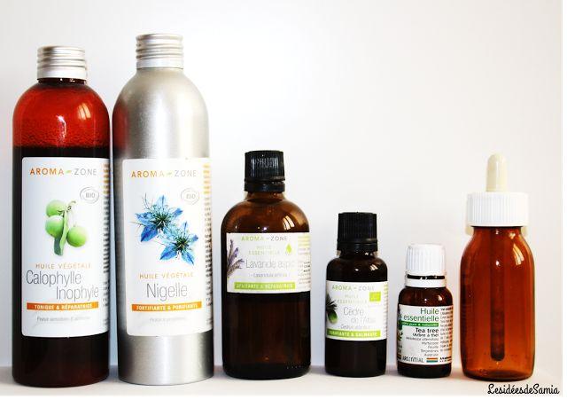 Les idées de Samia   Blog écologique: {Recette} Apaiser un cuir chevelu irrité : Calophylle, Nigelle, Cèdre d'Atlas, Lavande, Tea-Tree.