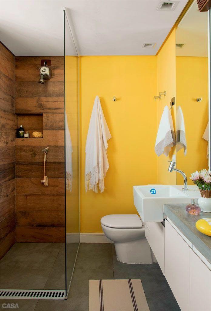 porcelanato -madeira- box -banheiro