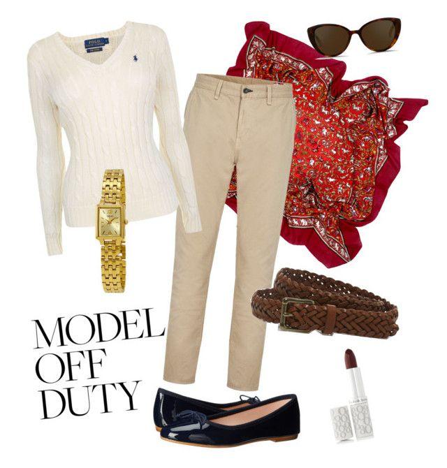 """Off duty - enjoying autumn"" by wardrobepieces on Polyvore featuring Hermès, rag & bone, Polo Ralph Lauren, Elizabeth Arden, Seiko, Linda Farrow, L.L.Bean and Summit by White Mountain"