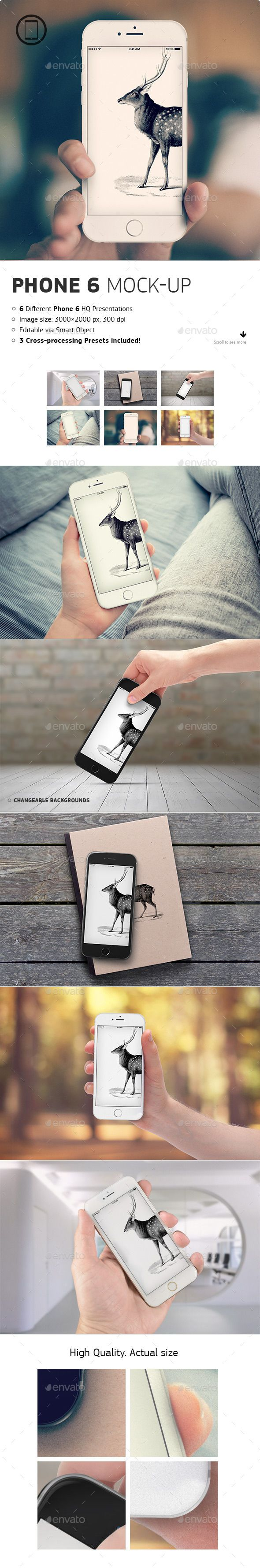 Realistic iPhone 6 Mock-up | #iphone6mockup #iphonemockup | Download: http://graphicriver.net/item/realistic-phone-6-mockup/8893906?ref=ksioks