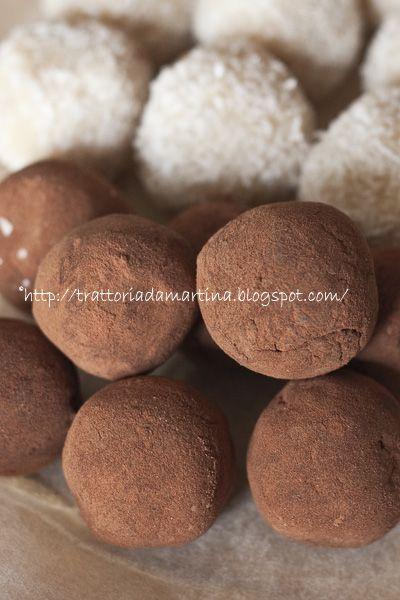 Tartufi al cioccolato - Trattoria da Martina - cucina tradizionale, regionale ed etnica