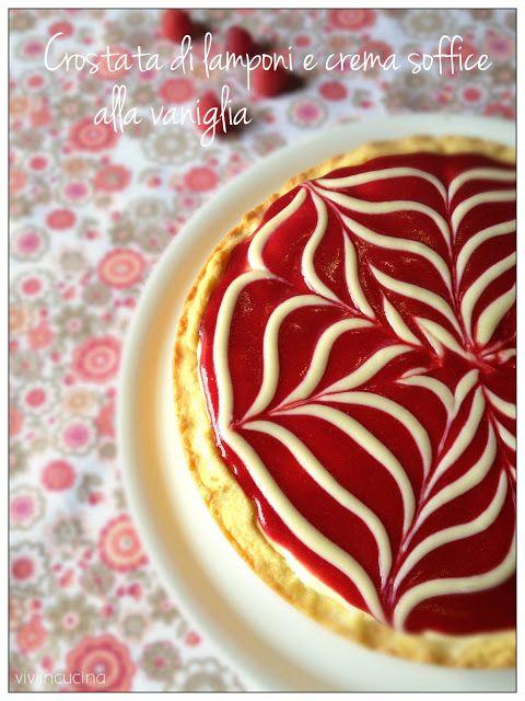 Vivi in cucina: Crostata di lamponi con crema soffice alla vaniglia di C. Sadler