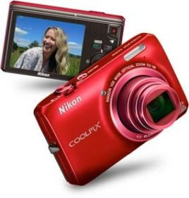 Nikon S6300 16MP 10X Optical Zoom Red Digital Camera