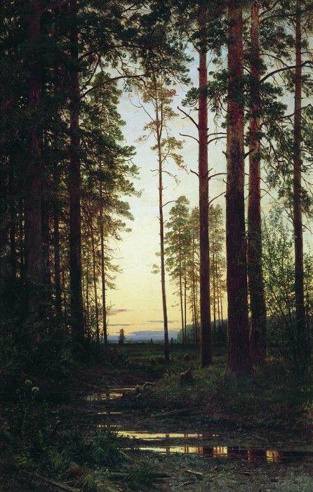Сумерки 1883 118х75. Иван Иванович Шишкин