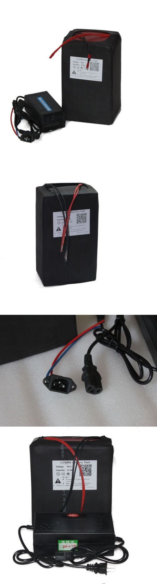 Electric Bicycle Components 177814: 48V 12Ah Lifepo4 Battery 3A Charger Bms Rechargeable Power 500W Ebike Kit Motor BUY IT NOW ONLY: $360.0