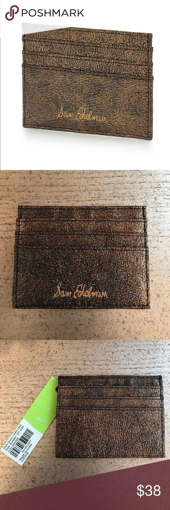 Sam Edelman Metallic Leather Credit Card Case Never used. Has original tags Sam Edelman Accessories Key & Card Holders