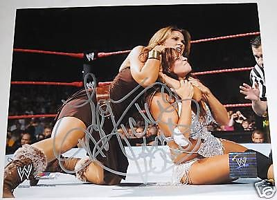 WWE MICKIE JAMES 8X10 SIGNED PHOTOFILE WITH EXACT PROOF