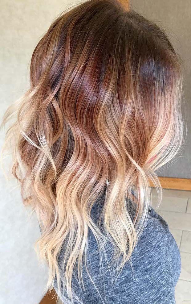 Light Copper To Platinum Blonde Hair Auburn Ombre Hair Ginger