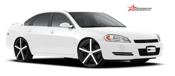 CarID: 2007 White CHEVROLET IMPALA LTZ AR Perform AR882 Phantom Matte Black w/Machine