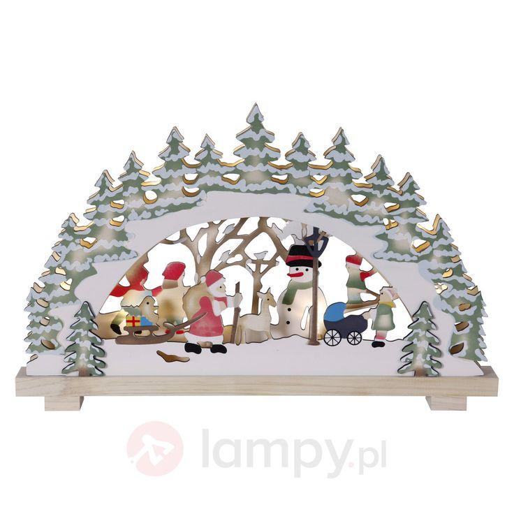 Kolorowy łuk świetlny LED Boże Narodzenie w lesie 1522891