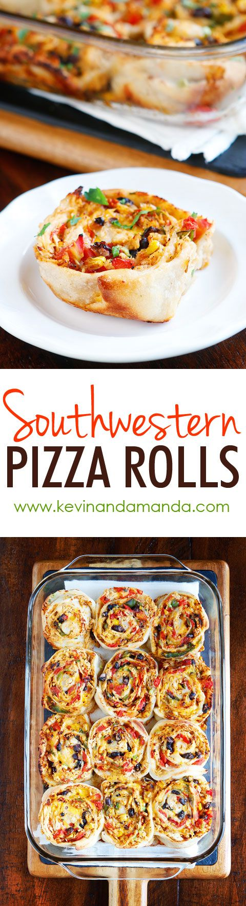 We cannot stop eating these Southwestern Chicken Pizza Rolls!! They are so good! They make me want to go back for seconds and thirds!