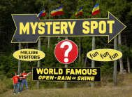the Mystery Spot, St. Ignace, Michigan