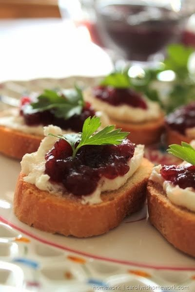Cranberry Relish Crostini via homework