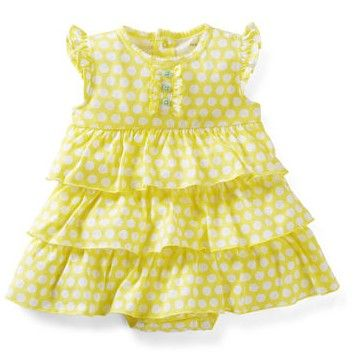 2-Pieces Bodysuit Dress Set from Carter's.  A flutter-sleeve dress with built-in bodysuit looks so cute with a coordinating cardigan. Polka dots and ruffles make it so sweet!   Get your rebate from RebateGiant.