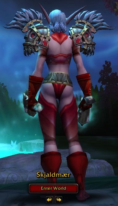 *Red Plate 2 Xmog w/ Cosmetic Headpiece* **Head - Rhinestone Sunglasses **Shoulders - Crafted Dreadful Gladiator's Plate Shoulders - **Chest - Bloodscale Breastplate  - **Hands - Bloodforged Gauntlets **Waist - Crafted Dreadful Gladiator's Girdle **Legs - Bloodscale Legguards **Feet - Bloodforged Sabatons **Weapon - Bone Valley Mace x2