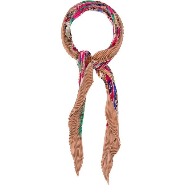 Pre-owned Herm?s Correspondance Silk Pliss? Scarf (6 560 UAH) ❤ liked on Polyvore featuring accessories, scarves, pink, silk shawl, multi colored scarves, hermès, pure silk scarves and silk scarves