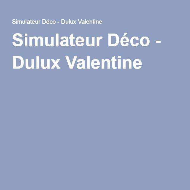 Les 20 meilleures id es de la cat gorie simulateur deco for Simulateur peinture dulux valentine