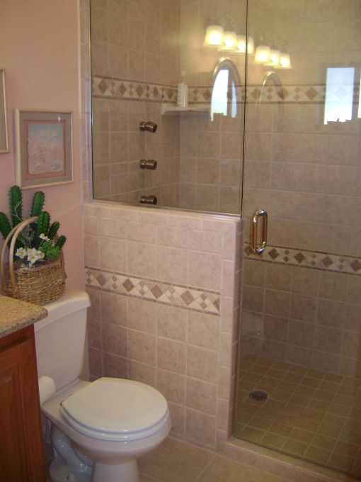 small bathrooms with shower only | Small & Fabulous!, We took this small master bathroom and made it ...