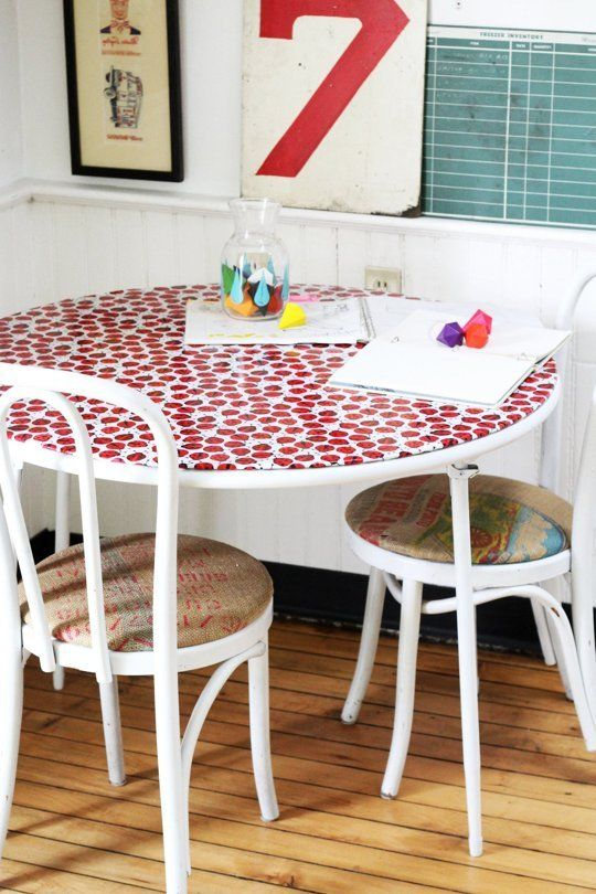 DIY Ways to Reinvent Old, Tired Card Tables & Folding Chairs | Apartment Therapy