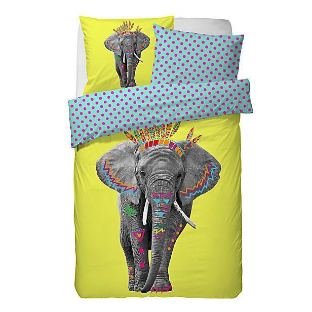 #kleurrijk #dekbedovertrek #olifant | Covers & Co via wehkamp