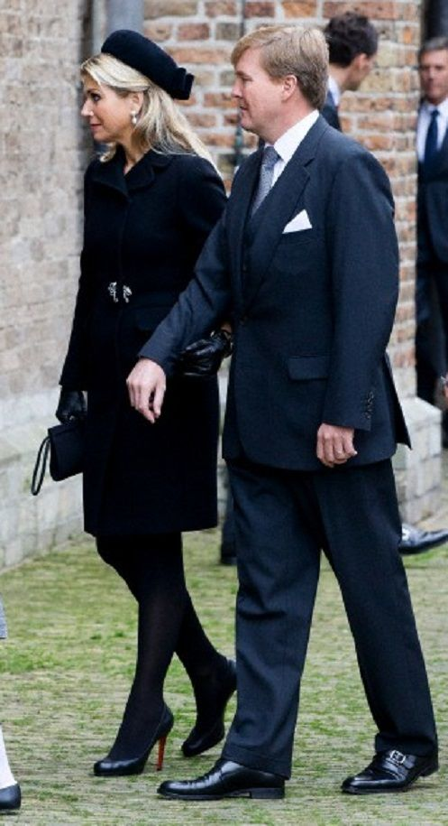 Dutch Queen Maxima, King Willem-Alexander, arrive at the Old Church in Delft, The Netherlands, for the memorial of Prince Friso, 02.11.13.