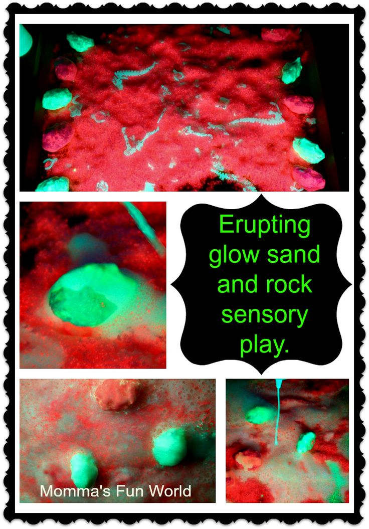 Momma's Fun World: Make your own glowing rock  and sand science