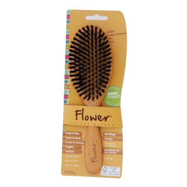 Brosse plate à poils de sanglier Flower | Acheter sur Greenweez.com