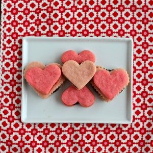 Heart Shaped Sandwich Cookies with Chocolate Ganache