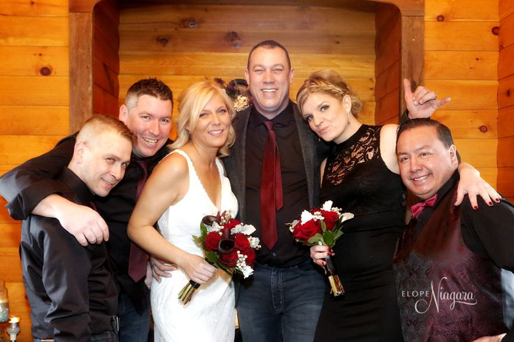 A stress-free wedding with close friends is possible at The Little Log Wedding Chapel in Niagara