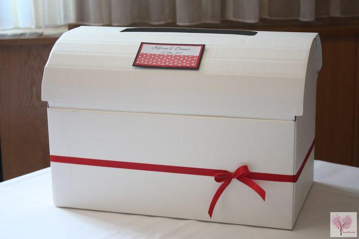 Geldbox Schatztruhe Geldumschläge Kartenbox Hochzeit Aufbewahrung Rockabilly individuell