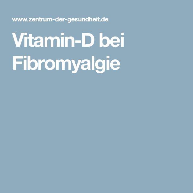 Vitamin-D bei Fibromyalgie
