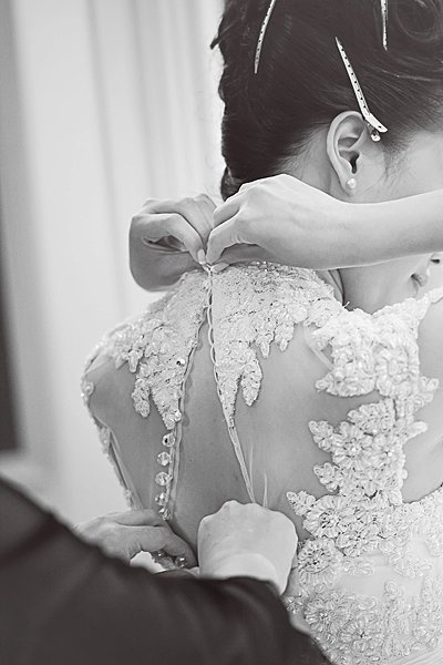 Sabrina's wedding dress..