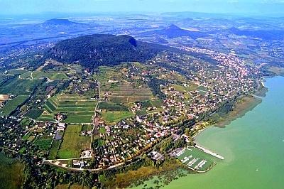 Badacsony wine country, areal view