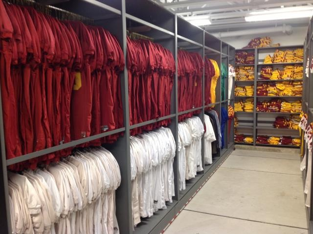 Athletic Arel Storage On Eclipse Mobile System Iowa State University